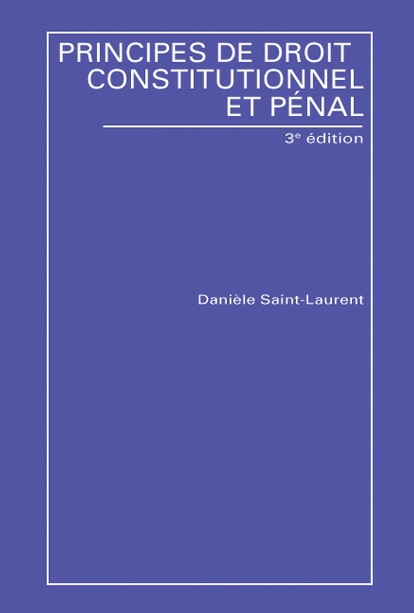 principes de droit constitutionel daniele saint-laurent pdf